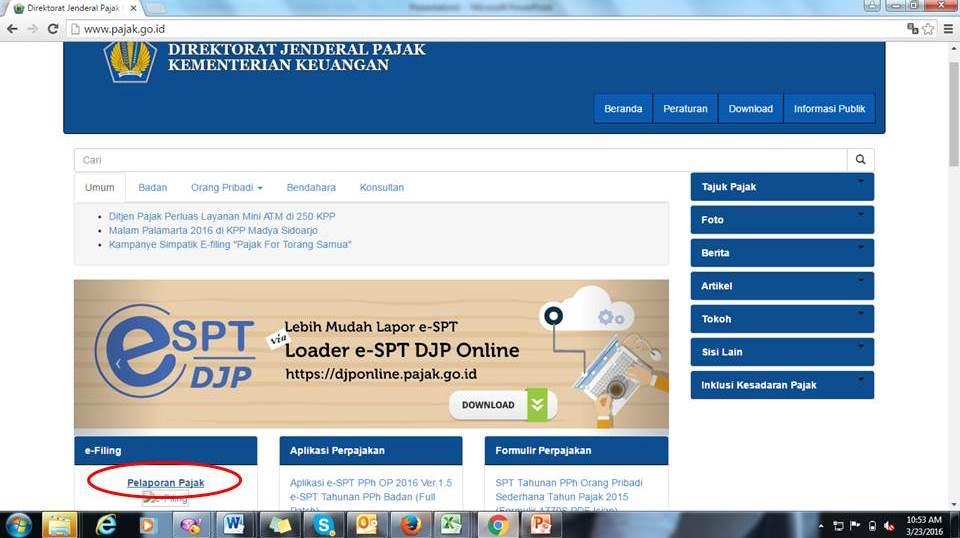 Lapor SPT Online