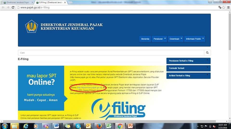 e-filling Pajak