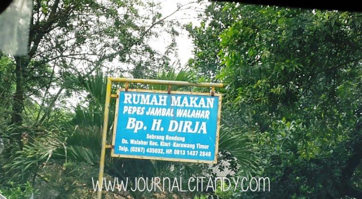 Rumah Makan Pepes Jambal Walahar Karawang 2016